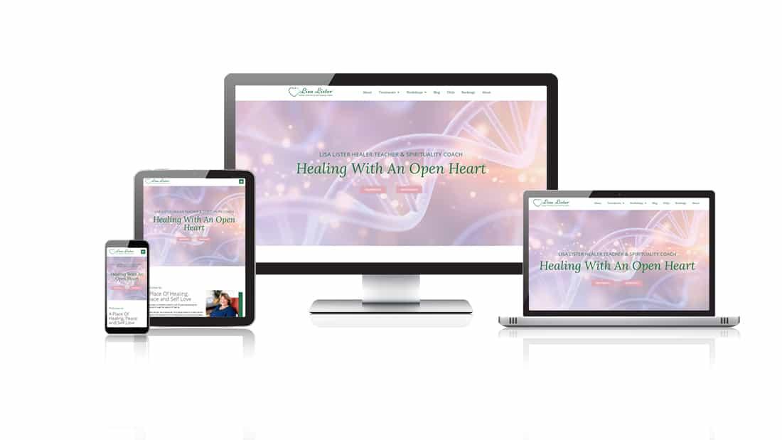 Lisa Lister Healer Teacher responsive website design